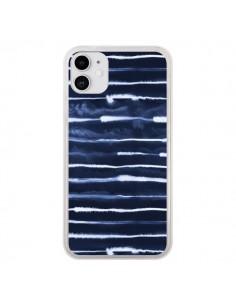 Coque iPhone 11 Electric Lines Navy - Ninola Design