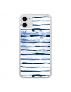 Coque iPhone 11 Electric Lines White - Ninola Design
