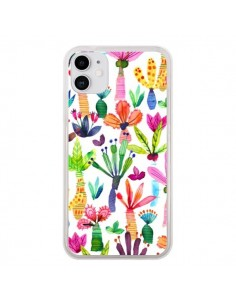 Coque iPhone 11 Overlapped Watercolor Dots - Ninola Design