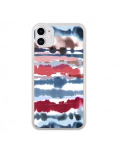 Coque iPhone 11 Smoky Marble Watercolor Dark - Ninola Design