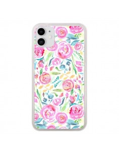 Coque iPhone 11 Speckled Watercolor Pink - Ninola Design