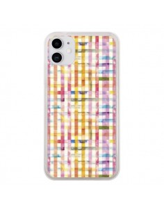 Coque iPhone 11 Vichy Black Yellow - Ninola Design