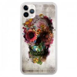 Coque iPhone 11 Pro Skull Flower Tête de Mort - Ali Gulec