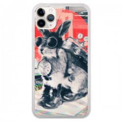 Coque iPhone 11 Pro Lapin Time Traveller - Ali Gulec