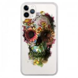 Coque iPhone 11 Pro Skull Flower Tête de Mort Transparente - Ali Gulec