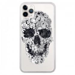Coque iPhone 11 Pro Doodle Skull Dessin Tête de Mort Transparente - Ali Gulec