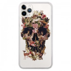 Coque iPhone 11 Pro Jungle Skull Tête de Mort Transparente - Ali Gulec