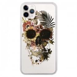 Coque iPhone 11 Pro Garden Skull Tête de Mort Transparente - Ali Gulec