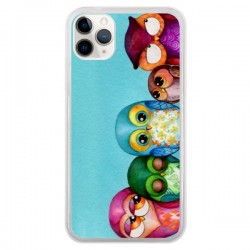 Coque iPhone 11 Pro Famille Chouettes - Annya Kai