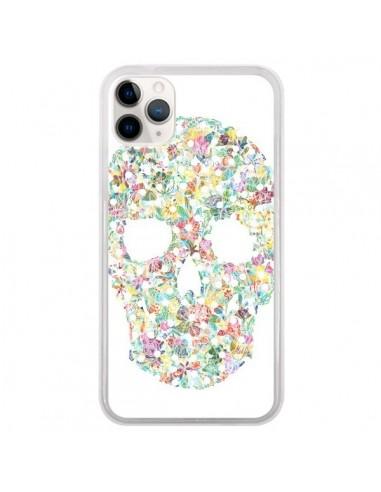 Coque iPhone 11 Pro Flower Skull Tête de Mort - AlekSia