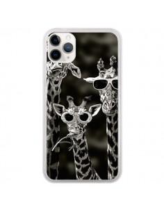 Coque iPhone 11 Pro Girafe Swag Lunettes Familiy Giraffe - Asano Yamazaki