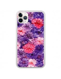 Coque iPhone 11 Pro Fleurs Violettes Flower Storm - Asano Yamazaki