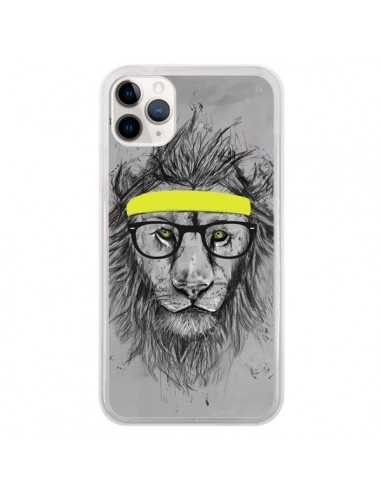 Coque iPhone 11 Pro Hipster Lion - Balazs Solti