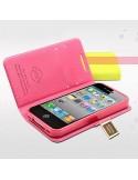 Etui Portefeuille en Simili Cuir pour iPhone 5C