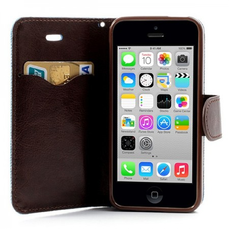 Etui Portefeuille en Jean pour iPhone 5C