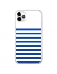 Coque iPhone 11 Pro Mariniere Bleu - Jonathan Perez