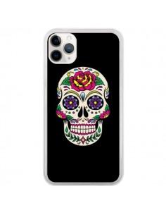Coque iPhone 11 Pro Tête de Mort Mexicaine Multicolore Noir - Laetitia