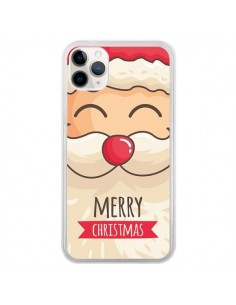 Coque iPhone 11 Pro Moustache du Père Noël Merry Christmas - Nico