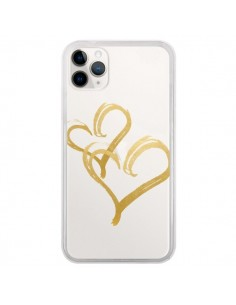 Coque iPhone 11 Pro Deux Coeurs Love Amour Transparente - Sylvia Cook