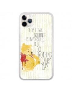 Coque iPhone 11 Pro Winnie I do nothing every day - Sara Eshak