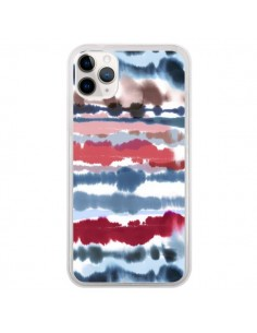 Coque iPhone 11 Pro Smoky Marble Watercolor Dark - Ninola Design