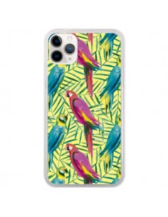 Coque iPhone 11 Pro Tropical Monstera Leaves Multicolored - Ninola Design