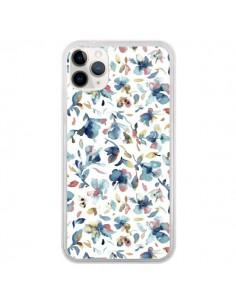 Coque iPhone 11 Pro Watery Hibiscus Blue - Ninola Design