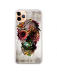 Coque iPhone 11 Pro Max Skull Flower Tête de Mort - Ali Gulec