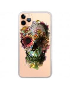 Coque iPhone 11 Pro Max Skull Flower Tête de Mort Transparente - Ali Gulec