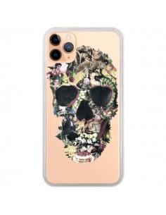 Coque iPhone 11 Pro Max Skull Vintage Tête de Mort Transparente - Ali Gulec