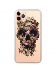 Coque iPhone 11 Pro Max Jungle Skull Tête de Mort Transparente - Ali Gulec