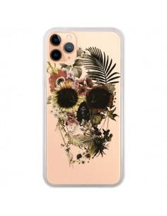 Coque iPhone 11 Pro Max Garden Skull Tête de Mort Transparente - Ali Gulec