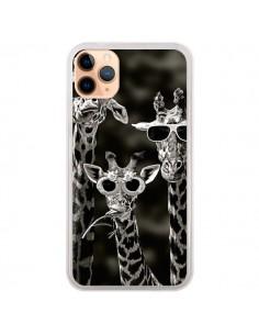 Coque iPhone 11 Pro Max Girafe Swag Lunettes Familiy Giraffe - Asano Yamazaki