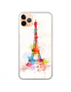 Coque iPhone 11 Pro Max Paris Tour Eiffel Muticolore - Asano Yamazaki