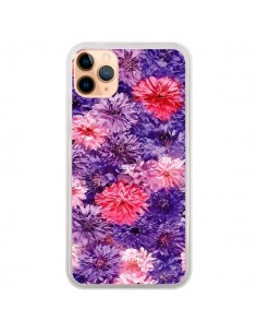 Coque iPhone 11 Pro Max Fleurs Violettes Flower Storm - Asano Yamazaki