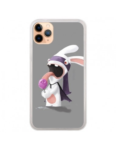 Coque iPhone 11 Pro Max Lapin Crétin Sucette - Bertrand Carriere
