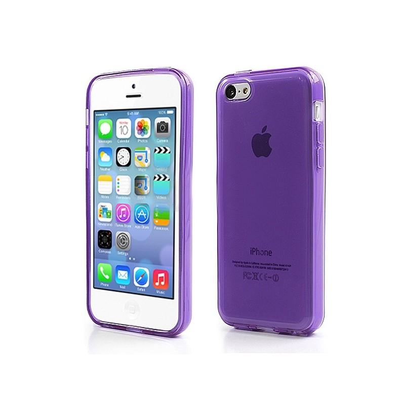 Coque Tranparente de Couleurs en Silicone pour iPhone 5C