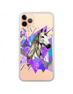 Coque iPhone 11 Pro Max Licorne Unicorn Azteque Transparente - Kris Tate