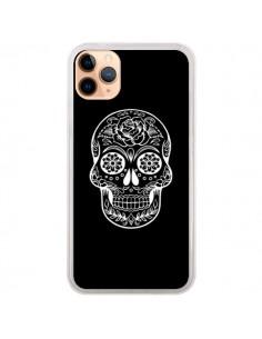 Coque iPhone 11 Pro Max Tête de Mort Mexicaine Blanche - Laetitia