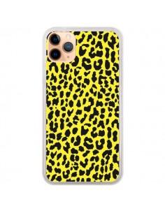 Coque iPhone 11 Pro Max Leopard Jaune - Mary Nesrala