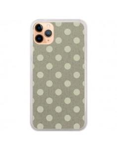 Coque iPhone 11 Pro Max Pois Polka Camel - Mary Nesrala
