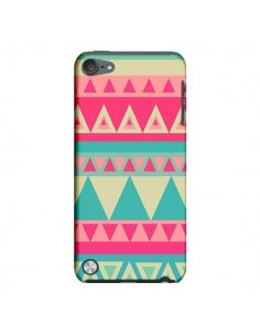 Coque Azteque Rose Vert pour iPod Touch 5 - Eleaxart
