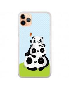 Coque iPhone 11 Pro Max Panda Famille - Maria Jose Da Luz