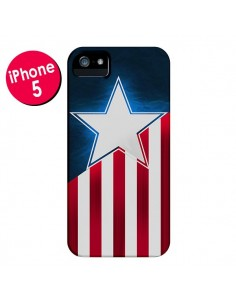 Coque Captain America pour iPhone 5 et 5S - Eleaxart