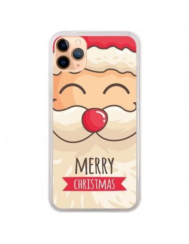 Coque iPhone 11 Pro Max Moustache du Père Noël Merry Christmas - Nico