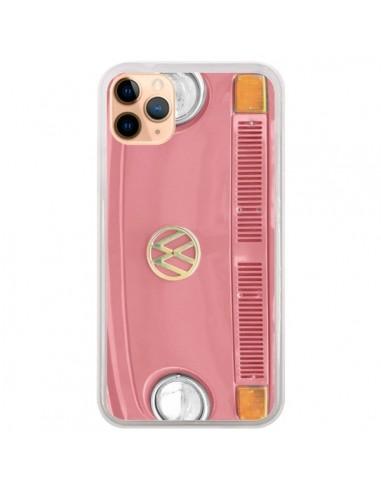 coque iphone 11 pro max groovy van hippie vw rose r delean