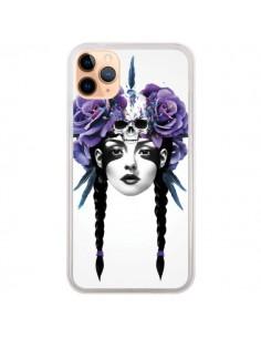 Coque iPhone 11 Pro Max Fille Fleurs Warrior - Ruben Ireland