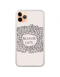 Coque iPhone 11 Pro Max Because Cats chat - Santiago Taberna