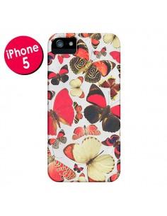 Coque Papillons pour iPhone 5 et 5S - Eleaxart