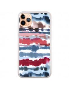 Coque iPhone 11 Pro Max Smoky Marble Watercolor Dark - Ninola Design